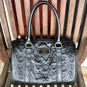 Mickey and Minnie Faux Leather Embossed Purse